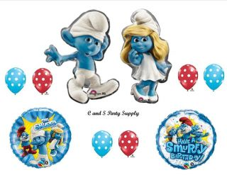 Smurfs Smurfette Movie Birthday Party Balloons Decorations Supplies Smurfy 2