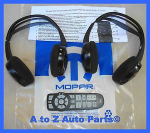 Chrysler Town Country Dodge Caravan DVD Player Headphone Remote Combo Mopar