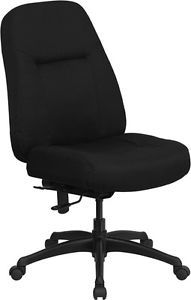 400 lb Capacity Big Tall Black Office Chair with Extra Wide Seat