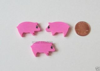 36 Mini Pig Erasers Farm Barn Yard Kid Party Goody Loot Bag Filler Favor Supply