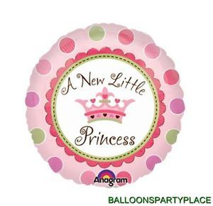 Baby Girl Shower Balloon Decoration Pink Polka Dot Newborn Princess Supplies