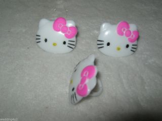 24 Cake Party Topper Cupcake Rings Hello Kitty Sanrio 24