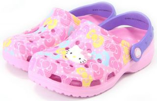 【Free SHIP】Hello Kitty Crocs Sandals★kids Girls Flip Flops Pool Beach Shoes Pink