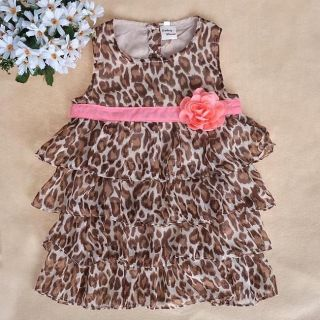 Baby Kids Toddler Girl Dress Clothes Pettiskirt Tutu Skirt Leopard 2 3Year NL09