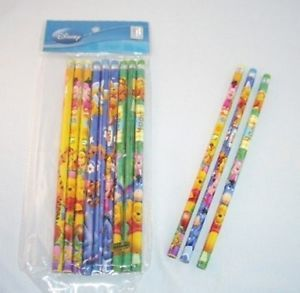 12 Disney Winnie The Pooh Wooden Pencil Kids Party Favor School Supply Wholesale
