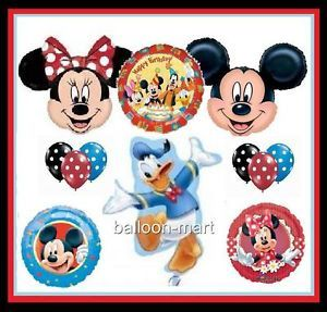 Disney Mickey Minnie Mouse Donald Duck Polka Dots Party Balloons Birthday Supply