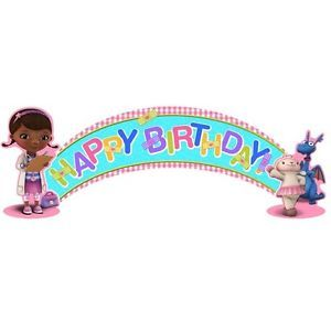 Disney Doc McStuffins 1 Birthday Banner 5 Feet Birthday Party Supplies