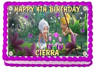 Tinkerbell Periwinkle Birthday Edible Cake Topper Image Decorations