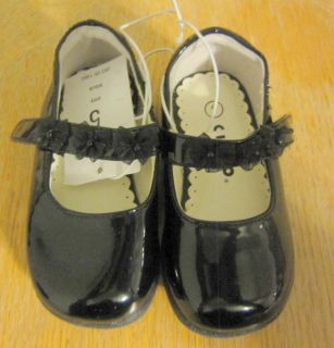 Toddler Girls Black Patent Mary Jane Dress Shoes Size 5