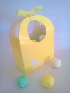 10 Yellow Star Favor Candy Boxes Baby Bridal Shower Birthday Party Supplies
