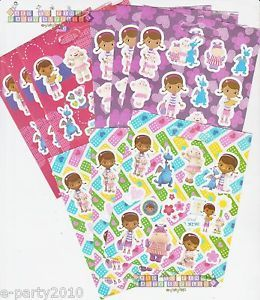 9SHEETS Disney Doc McStuffins Stickers Birthday Party Supplies Favors