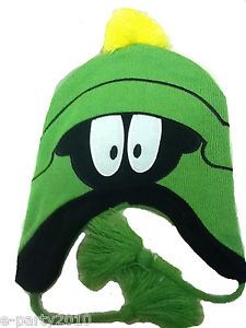 Looney Tunes Green Marvin The Martian Adult Knit Skull Cap Hat Party Supplies