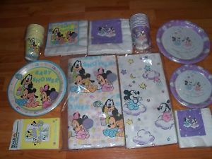Vintage Beach Hallmark Disney Babies Baby Mickey Minnie Baby Shower Goods