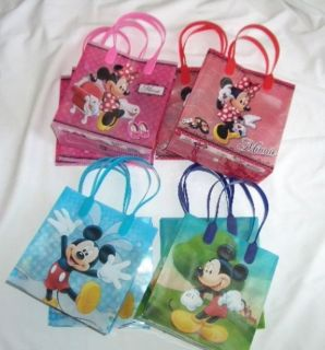 12 Pcs Disney Mickey Minnie Mouse Goody Gift Bag Kid Birthday Party Favor Supply