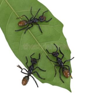 3pcs Black Plastic Fake Ant Joke Trick Toys Party Favors Halloween Decoration