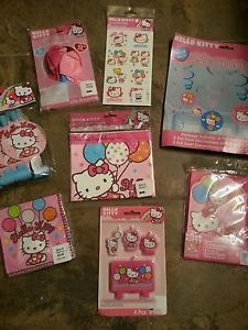 Hello Kitty Birthday Girls Party Supplies Decorations Balloons Tattoos Retail$63