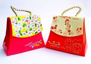 20 Handbag Wedding Baby Shower Birthday Beach Party Favor Boxes Gift Candy Box