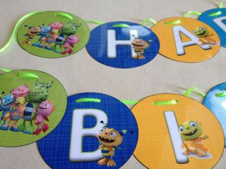 Henry Hugglemonster Happy Birthday Party Personalized Banner w Name Age