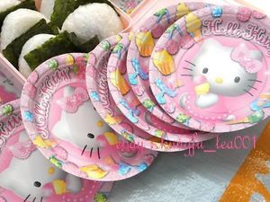 6pcs Sanrio Hello Kitty Birthday Christmas Wedding Party Supplies Paper Plates