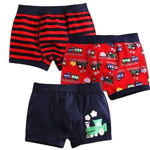 "3pcs Vaenait Baby Boy Kids Clothes Underwear Boxer Brief ""Choo Choo Train""2Y 9Y"
