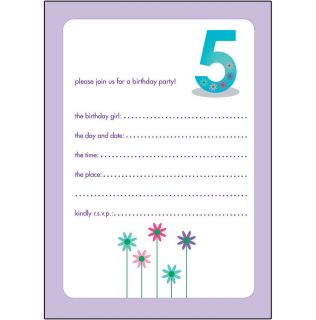 10 Childrens Birthday Party Invitations 5 Years Old Girl Nice Bpif 30 Flower