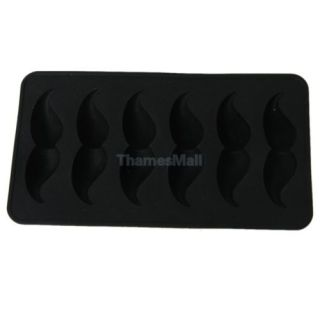 Fun Mustache Mustache Design Silicone Ice Cube Mold Chocolate Tray Mould DIY