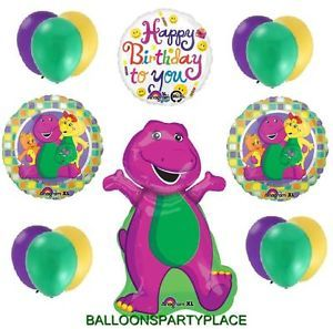 Barney Mylar Latex Balloon Lot Party Supplies Fun 1st 2nd 3rd 4th Happy Birthday