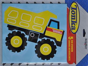 Tonka Truck Construction Party Supplies 5 LG Stickers