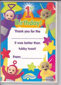 Teletubbies Thank You Cards Birthday Party Supplies
