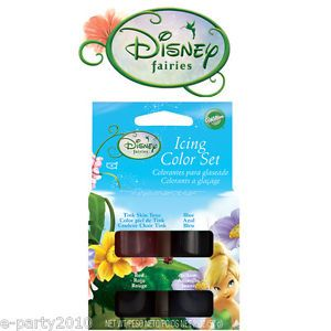 Wilton Tinkerbell Cake Icing Color Set Birthday Party Supplies Decorating Cake