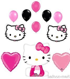 Hello Kitty Balloons Set Hot Pink Birthday Party Baby Shower Supplies Decoration