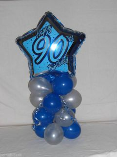 Age 90 90th Birthday Balloon Decoration Table Display