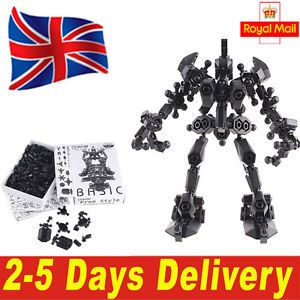 Building Assembly Robot Educational Funny Kit Toy for Kids Black UK Delivery