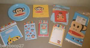 Paul Frank Julius Monkey Birthday Party Plates Napkins Tablecover Banner Invites