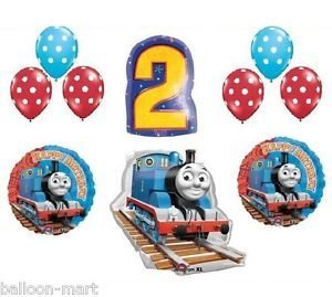 Thomas Tank Train Engine Party Balloons Birthday Supplies Second Railroad 2nd