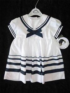 New Sarah Louise Nautical Sailor Dress 12 Months