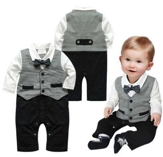 Boy Baby Kid Toddler Gentleman One Piece Romper Jumpsuit Clothing Outfit NL06