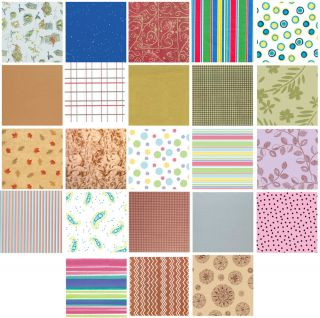 Printed Patterned Tissue Wrapping Paper Luxury 5 Sheets 30 More You Choose