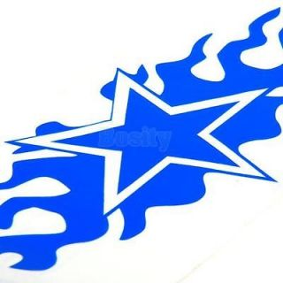 2X Flame Star Vinyl Decal Car Truck Window Sticker 20x9