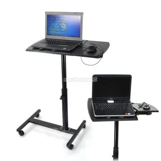 Angle Height Adjustable Rolling Laptop Desk Over Bed Hospital Table Stand EY0H