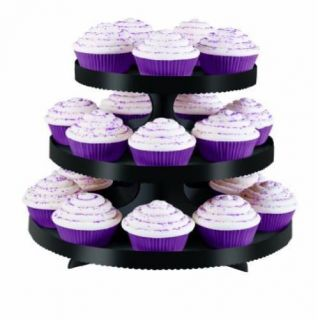 Wilton Black Borders Cupcake Stand Cake Serving Plates Wedding Party Supplies