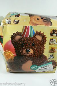 Wilton 3D Cuddly Bear Bake Birthday Party Supplies Cake Pan Set New $0 Shipping