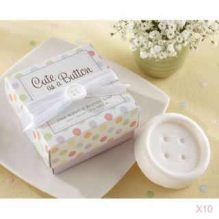 10set Trendy Cute Scented Button Soap for Wedding Favors Gift Party Baby Shower