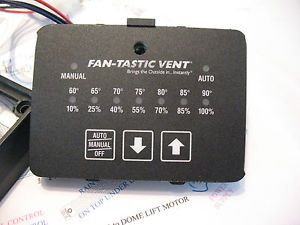 Fan Tastic Vent Fan Remote Wall Control with Wiring Diagram