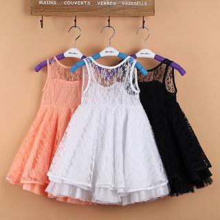 Girl Kids Baby Toddler Lace See Through Tutu Skirt Party Dress Clothes Outfit