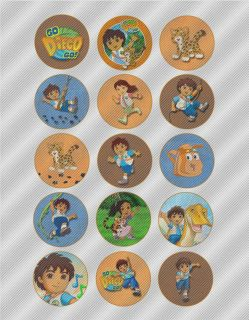 N427 Edible Image Birthday Cake Cookie Cupcake Toppers Diego Dora Baby Jaguar