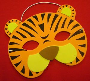 New Eva Foam Wild Animal Face Mask Fancy Dress Tiger