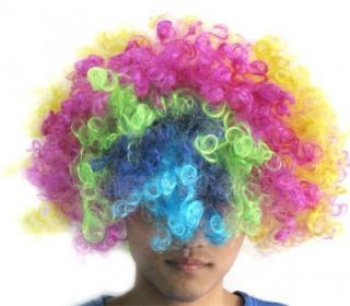10x Multi Coloured Clown Halloween Costume Party Hair Wig