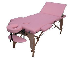 Pink Portable Reiki Massage Table Tattoo Spa Beauty Facial Bed Supply Chair U3