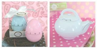 Wedding Baby Shower Party Guest Favor Gift Egg or Teapot Themed Timers